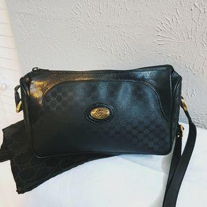 Mint!! Vintage Gucci Monogram Shoulder Bag